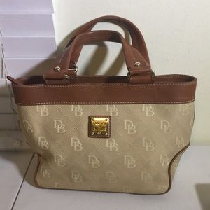 Dooney and Bourke canvas and leather handbag